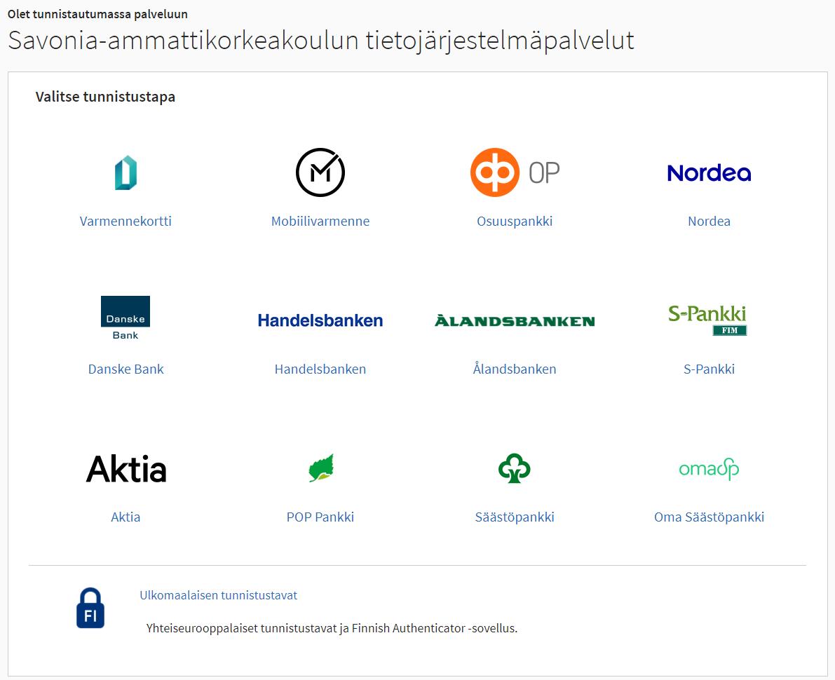 Suomi.fi tunnistautumisikkuna